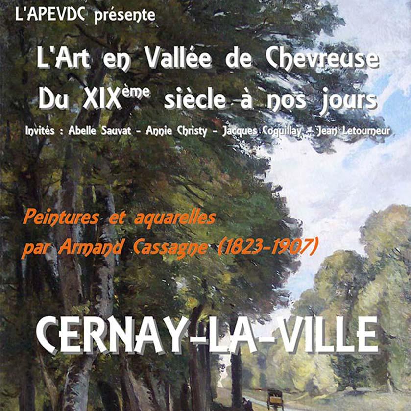 Affiche de l'Exposition sur Cassagne organisée par l'Association Peintres en Vallée de Chevreuse (APEVDC Cernay)