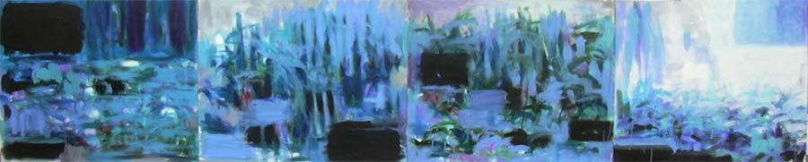 La mare au loup QUADRIPTYQUE Acrylique sur toile 4 fois  93x73 cm© photo APEVDC