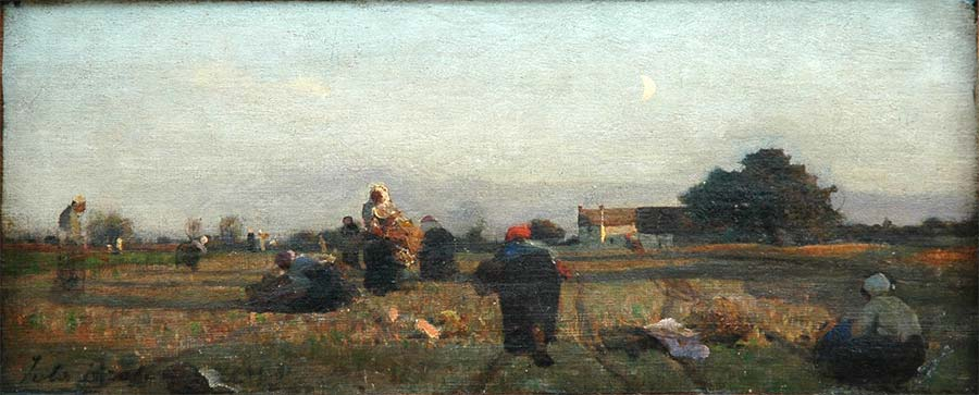 Glaneuses à Cernay, 1865,Huile sur toile, 17x37 cm, Boulogne-sur-Mer, Musée de Boulogne-sur-Mer © photo Musée de Boulogne-sur-Mer