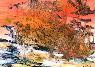 "Annie Christy ""Coucher de soleil"" Huile 73x60cm © Annie Christy"