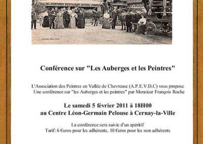 Conférence sur les auberges et les peintres Cernay la Ville