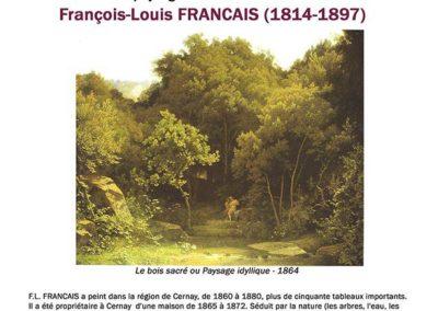 Conférence François Louis Francais peintre XIXème Cernay la Ville
