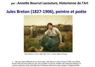 Affiche de la Conférence Jules Breton à Cernay la Ville