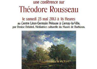 Conférence Théodore Rousseau Cernay la Ville