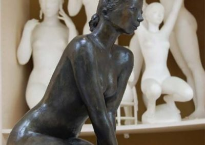 Jacques Coquillay Sculpture bronze, Nymphe assise, hateur 60 cm© photo APEVDC