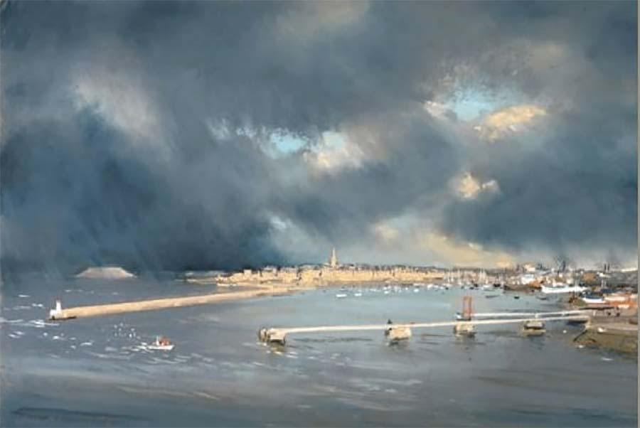 Jacques Coquillay Saint-Malo, pastel 92 x 60 cm© photo APEVDC