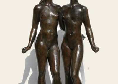 "Coquillay ""Les deux amies"" bronze © Galerie de Crecy"