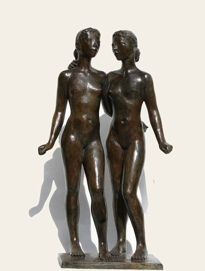 "Coquillay ""Les deux amies"" bronze © Photo Galerie de Crecy"
