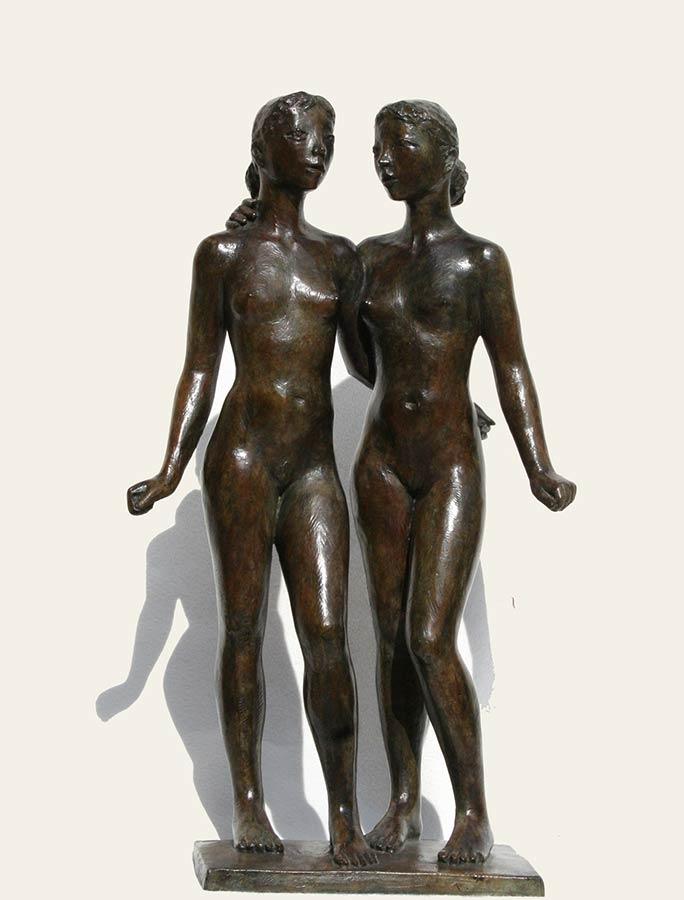 "Coquillay ""Les deux amies"" bronze © Photo Galerie de Crecy"