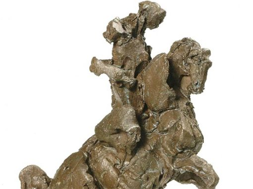 "CAVALIER Bronze hauteur 36 cm (base 22,5 cm X 13 cm 1er Prix de sculpture au 17e Salon International ""ART Cheval"" de Saumur 2009© photo APEVDC"