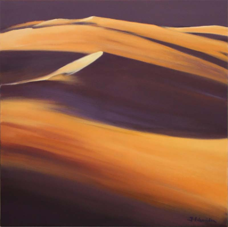 "Jacques Echavidre "" Dune à Merzouga "" 80 x80 HST © Photo APEVDC"