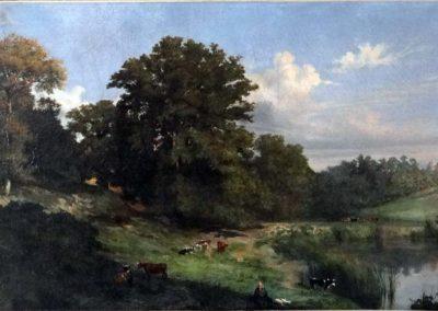 E. Lambinet,Un étang dans la Vallée de Chevreuse, 1836, Huile sur toile 73 cm x 117 cm Musée des Beaux Arts de Cambrai. © photo Musée des Beaux Arts de Cambrai