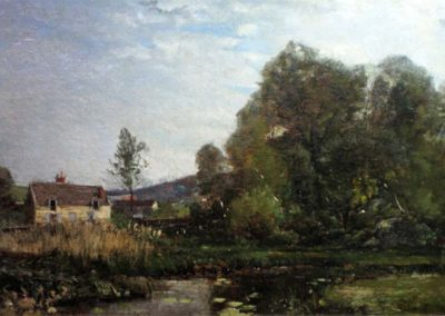 Emmanuel Lansyer Moulin à Tan à Cernay, 1866, HST 46 x 33 cm collection privée © photo APEVDC