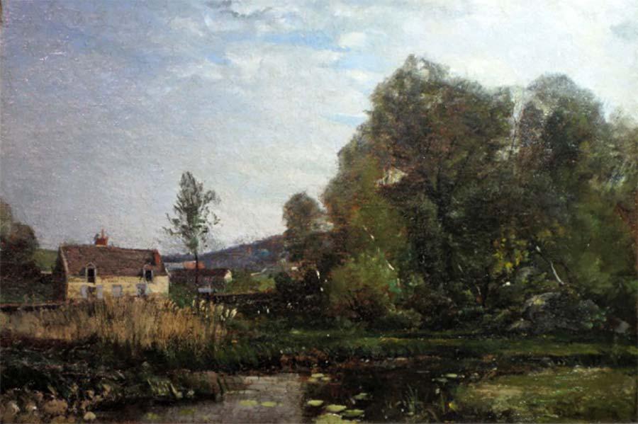 Moulin à Tan à Cernay, 1866, HST 46 x 33 cm collection privée © photo APEVDC