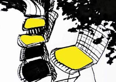 """Gaetane Passeron HST 150x150cm """"Ombres et Couleurs ©Passeron"""