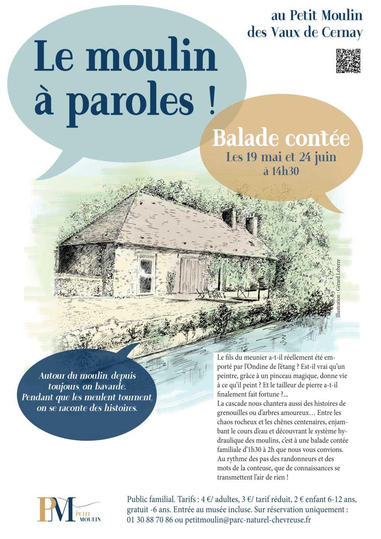 Balade contée au Petit Moulin des Vaux de Cernay