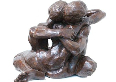 Etreinte Bronze 50cm © Danièle Dekeyser