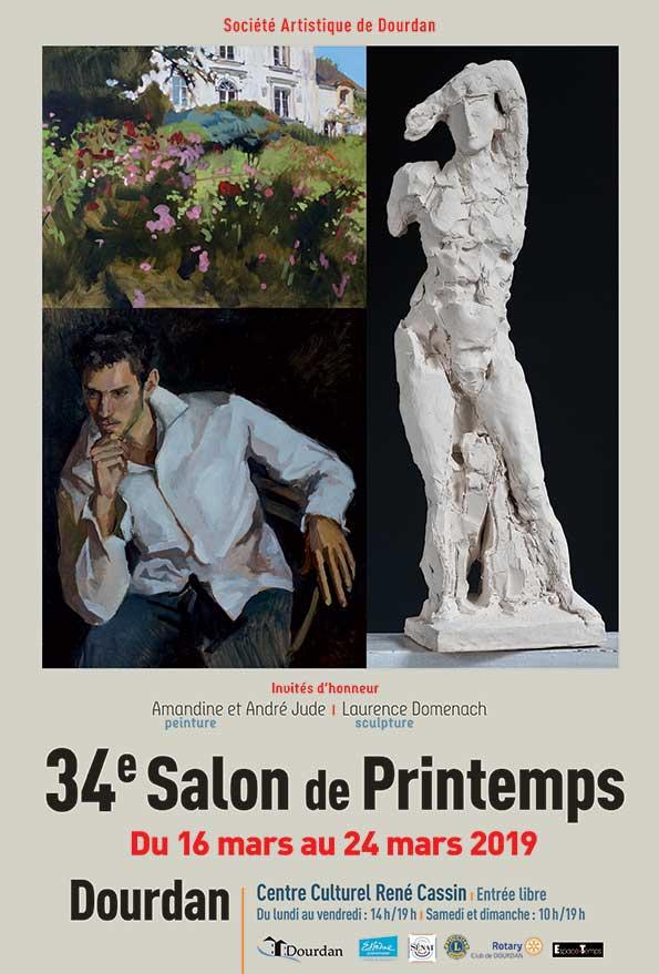 Affiche du 34eme Salon du Printemps de Dourdan 2019