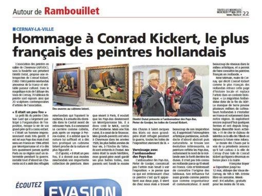 Article dans la presse sur l'exposition Conrad Kickert
